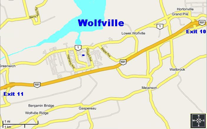 2500 Scale map of Wolfville Area